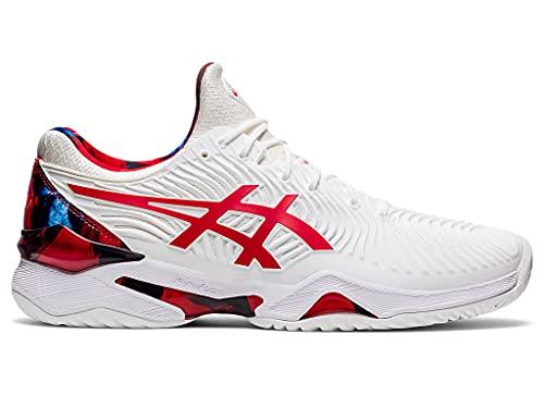 ASICS Men's Court FF Novak L.E. Tennis Shoes, 11, White/Classic RED