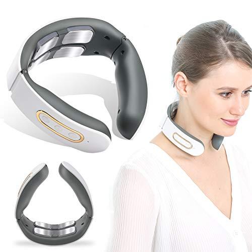 Nackenmassagegerät,Intelligentes Schulter Nackenmassagegerät mit Wärmefunktion,6 Modi 9 Intensitätsstufen Schmerzlinderung bei Nacken Schulter, für Zuhause, Büro, Reise