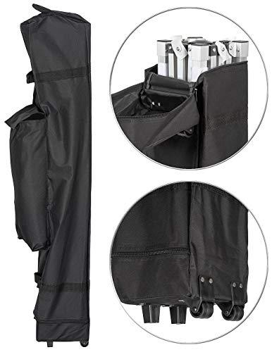 Royal Gardineer Transporttasche: Transport-Tasche für Faltpavillons, mit Zusatzfach und Rollen, schwarz (Zelt-Taschen)