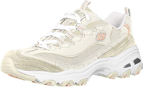 Skechers Women's D'Lites ME TIME Sneaker, Natural, 12 M US