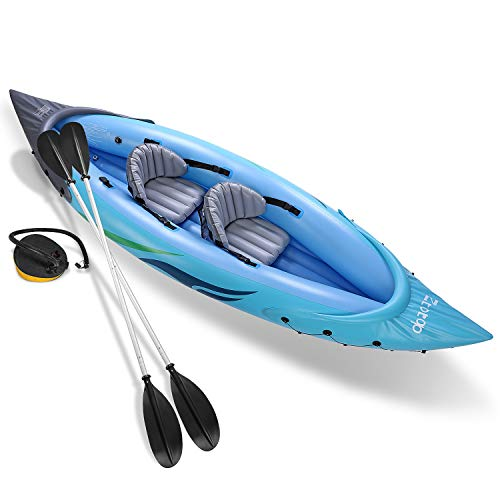 Ztot0p 2-Person Inflatable Kayak Set with Inflatable Boat,Two Aluminum...