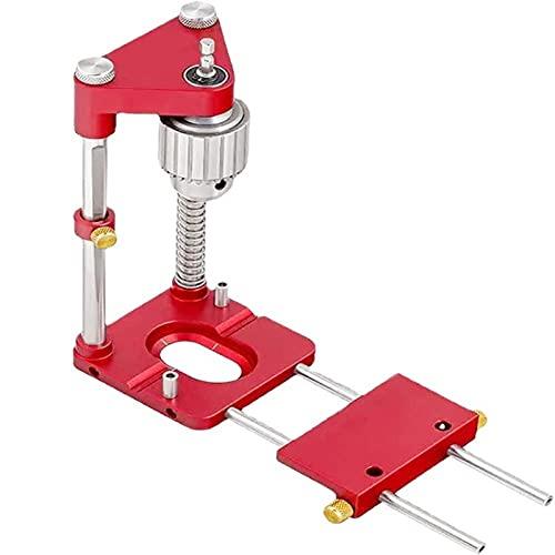 Guía de taladro de localizador de perforación Banco de perforación Máquina de prensa de carpintería ajustable Carpintería 1 pulgada Capacidad de broca, localización portátil Localizador de precisión L