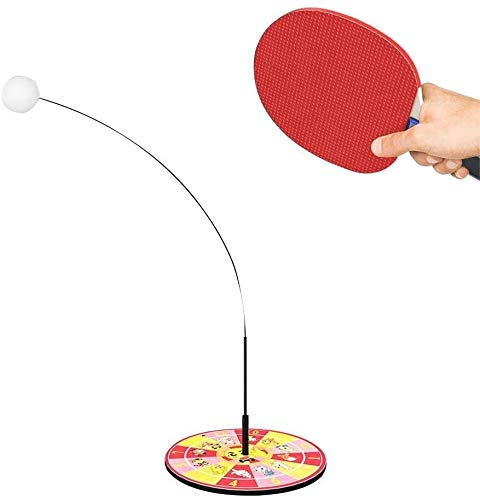 Review Of Candtong Portable Table Tennis Trainer with Flexible Soft Rod, Table Tennis Backboard Fixe...
