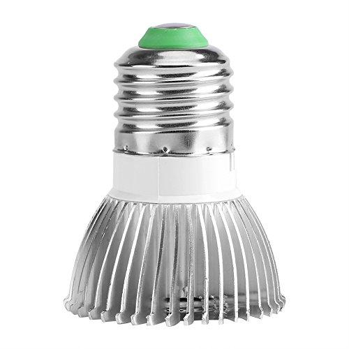 Yosoo Pflanzenlampe 18 W 85 – 265 V 18 LED Full Spectrum E27/E14/GU10 Pflanzenlampe für Gewächshaus Garten (E27)