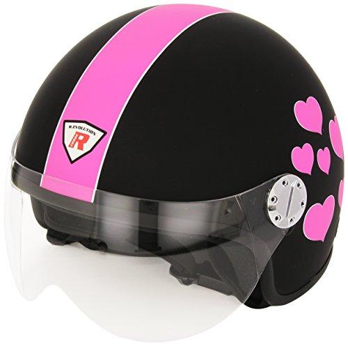 Bottari Motorradhelm My Love, Rubber Black, Größe XL