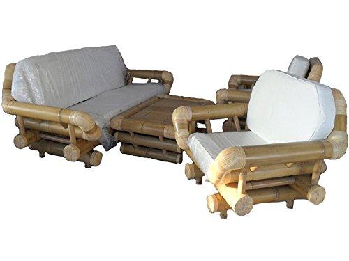 fantasie d oriente Salotto in Canna di Bambu Arredamento per Esterno Giardino Divano CM 210