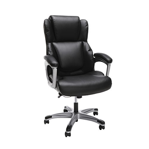 OFM ESS Collection Ergonomic Bonded Leather Office Chair, Executive, Black