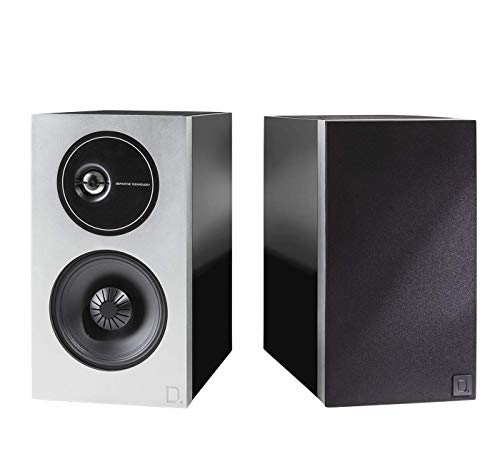 Definitive Technology D9 High Performance Demand Series Bookshelf Speakers, New and Unique Tweeter Design, Acoustically Transparent Magnetic Grille, Pair, Premium Piano Black