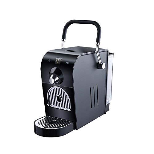LCSD Kaffeevollautomaten Italienische konzentrierte Kapsel-Kaffeemaschine Büro Gewerbe Klein Automatisch Haushalt Smart Energiesparend (Schwarz)