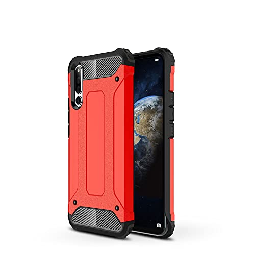 ZHIWEI Das tragbare Handy Tasche Schutzhülle für Huawei Honor Magic 2 Hülle, TPU + PC Stoßfänger Dual Layer Stoßdämpfe Hybridschutz Robustes Fall (Color : Red)