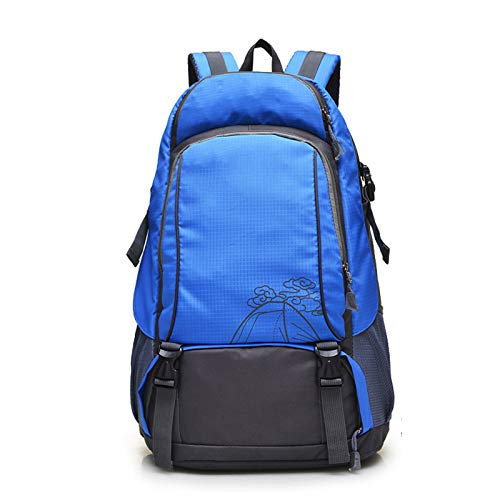 LXXYJ Outdoor Trekking Backpack,Waterproof Camping Backpacking,Hiking Backpack Suitable for Women Men Child Running Cycling Mountaineering Travel,Blue,Regular version
