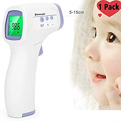 Non-Contact Forehead Thermometer Infrared Thermometer Forehead Digital Thermometer with LED Backlight Display for Baby and Adults (Style 1)