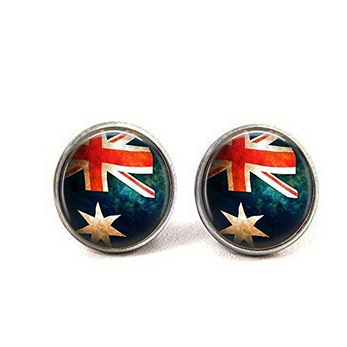 nijiahx Australische Flagge Schmuck – Australische Flagge Ohrringe – Flagge von Australien – Commonwealth – Down Under