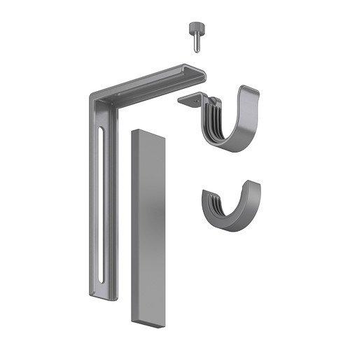 Ikea Silver Betydlig Curtain Rod Wall or Ceiling Adjustable Bracket Drapes Hardware