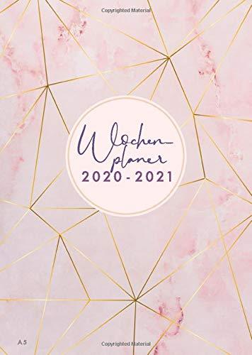 Wochenplaner 2020-2021: Juli 2020 bis Dezember 2021, modernes Marble Cover Design mit rose-gold Pattern, Wochen- und Monatsplaner, 1 Woche auf 2 Seiten, 15x21 cm (Bürobedarf 2020-2021, Band 1)