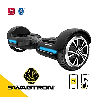 Swagtron T580 App-Enabled Hoverboard w/Speaker Smart Self-Balancing Wheel – Available on iPhone & Android