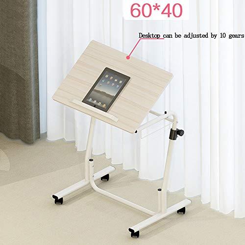 Heim-Beistelltische Einfacher Laptop-Schreibtisch Einfacher Desktop-Heimarbeitstisch Abnehmbarer Lift-Nachttisch, BOSS LV, Holzfarbe, 80 * 40 cm