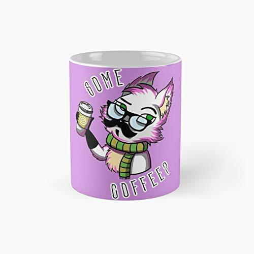 Taza clásica de zorro blanco | El mejor regalo divertidas tazas de café de 11 oz