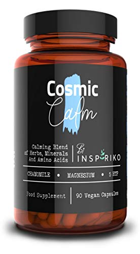 Herbal Sleeping Tablets for Adults with Extra Strong Dose of 5 HTP, Magnesium Glycinate, Lemon Balm, Chamomile and More. 90 Vegan Easy Swallow Pills. Natural Alternative to Melatonin Supplement