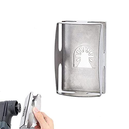 Cortador de ranura cuadrada de acero inoxidable de un paso en el lugar, cortador de ranura cuadrada - cortador de fresado cuadrado tallado para paneles de yeso, herramientas (Rectángulo)