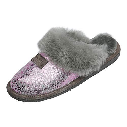 Hollert Lammfell Hausschuhe - Sydney Modell 9 Damen Pantoffeln Fellschuhe Puschen echtes Merino Schaffell Größe EUR 41