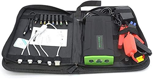 Arrancador de Coches, Starter de batería portátil portátil de Litio de 16800mAh con luz LED y Cargador rápido, Inicio de Salto de automóviles para Todos los vehículos y Dispositivos Inteligentes, WQQ