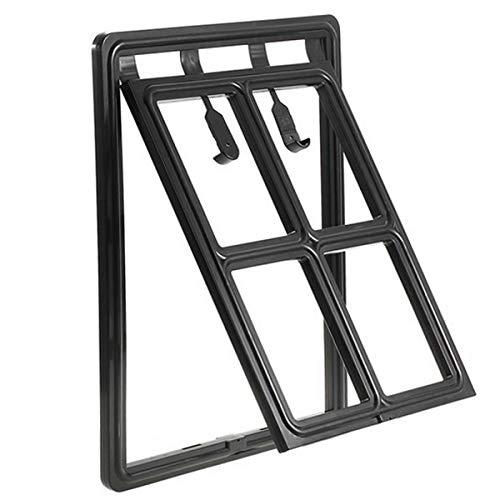 Soapow Haustier-Gittertür Innengröße 30 x 40 cm, Hundeschutztür für Schiebetür, magnetisch, automatisch, abschließbar