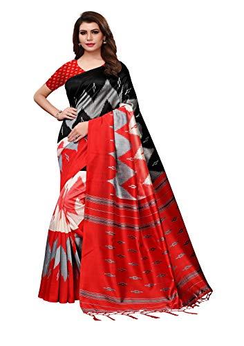 Indische Bollywood Hochzeit Saree indische ethnische Hochzeit Sari neue Kleid Damen lässig Tuch Geburtstag Ernte Top Mädchen Frauen schlicht traditionelle Party Wear Readymade Kostüm (red)