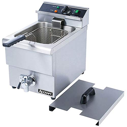 Adcraft DF-12L 25-Pound Single Tank Electric Countertop Deep Fryer, 208v, NSF