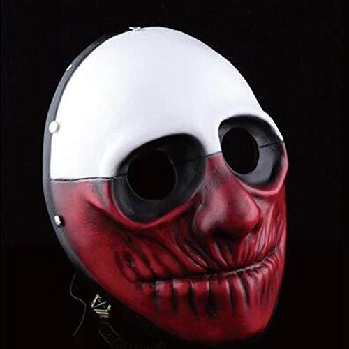 VAWAA Hohe Qualität Halloween Beängstigend Payday 2 Wolf Harz Masken Party Cosplay Masken Männer Joker Maskerade Kleid Kostüm Sammlung Requisiten