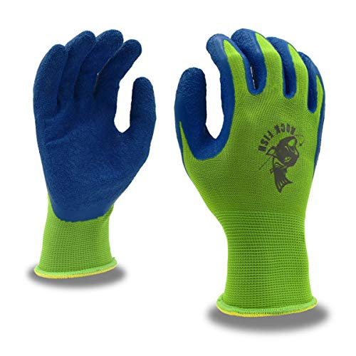 Cordova Safety Products 13-Gauge Polyester with Latex Grip Rockfish Fishing Gloves, One Pair, Medium