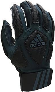 adidas Scorch Destroy 2 Full Finger Lineman's Gloves, Gray/Black, X-Large
