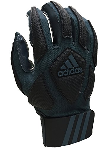 adidas Scorch Destroyer Full Finger Lineman's Gloves, Gray/Black,...