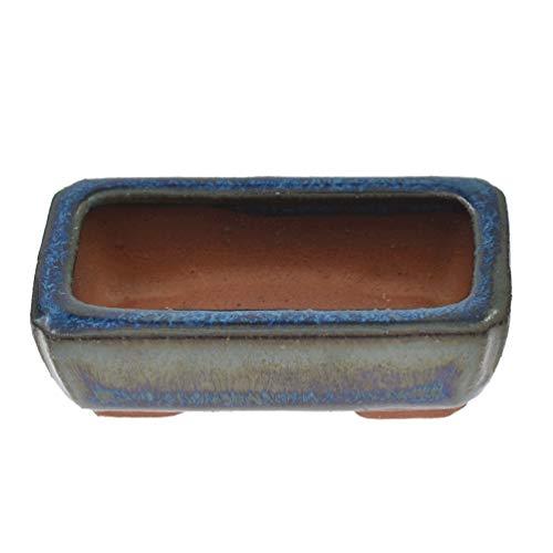 Kesheng Adorablemente Mini maceta de cerámica esmaltada para bonsái, maceta suculenta, maceta para decoración de la mesa del hogar