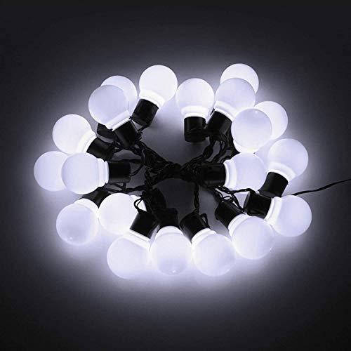 NZDY Bombilla de Guirnalda de Globo Led Al Aire Libre 5 M / 10 M / 15 M / 20 M Lámpara de Pared de Luz de Cadena de Hadas Jardín Patio Decoración de Fiesta de Navidad