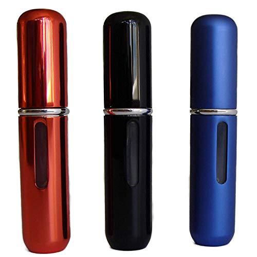 Lot de 3 atomiseurs de parfum rechargeables à pompe vide pour eau de Cologne et parfum