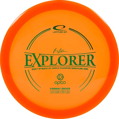 D·D DYNAMIC DISCS Latitude 64 Opto Explorer Disc Golf Driver | Stable Fairway Driver | 170g Plus | Stamp Color Will Vary (Orange)