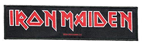 Unbekannt Iron Maiden Aufnäher - Logo - Iron Maiden Patch - Stripe Gewebt & Lizenziert !!