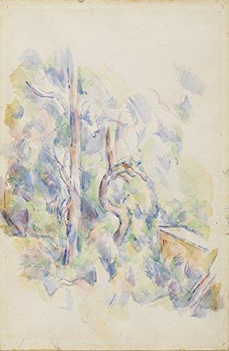 Das Museum Outlet–Bäume und Zisterne im Park von Chateau Noir, 1900–02, gespannte Leinwand Galerie verpackt. 96,5x 121,9cm