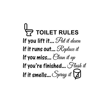 Jiuhong DIY Removable Funny Pictures Man s Woman s Washroom Toilet Bathroom WC Sign Door Accessories Wall Sticker Home Decor for Kids Living Room Home Decoration