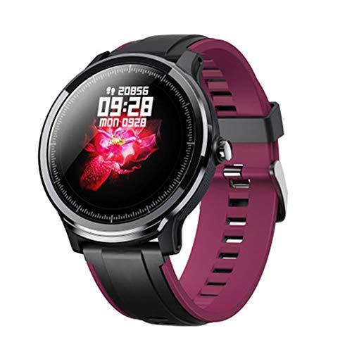 HDJX Full Touch Vollkreis Farbbildschirm Smart Bracelet, Lange Standby, wasserdichte Übung Schritt, Herzfrequenz Schlaf Gesundheit, Nachricht Erinnerung Uhr-Purple