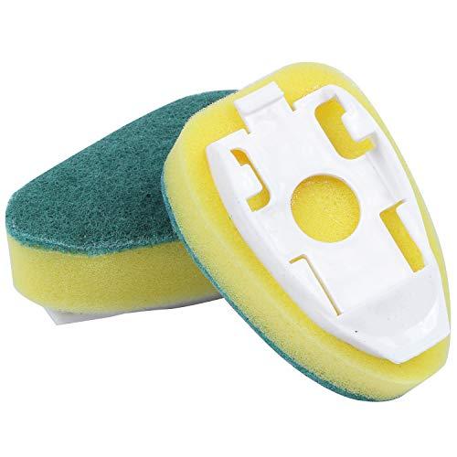 Cobeky 18 Piezas Varita para Platos Rellena Cabezas de Esponja de Repuesto Estropajos de Fregado Esponja para Vajilla de Servicio Pesado para Cepillo de Limpieza de Fregadero de Cocina