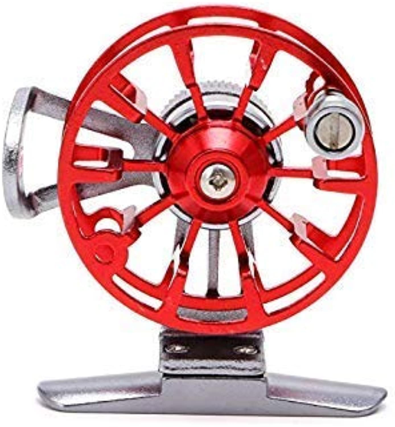 Full Metal UltraLight Simple Structure Former Ice Fishing Reels Wheel Fly Fishing Reel Aluminum color Red Use Mode Right Hand