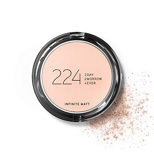 224 Cosmetics Polvos compactos - natural, vegano , no testada en animals - feel good fórmula , sin parabeno y silicona - Infinite Matt claros