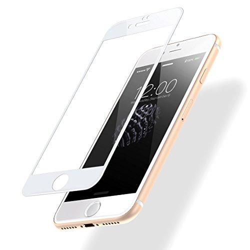POSUGEAR Vetro Temperato, Pellicola Protettiva Compatibile per iPhone 7/8,3D Full Coverage, 9H Durezza Scratch Resistente - Bianca