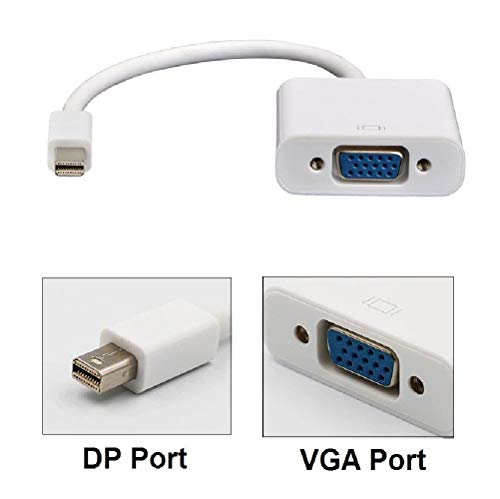 REALMAX® mini dp naar vga adapter thunderbolt poort compatibel Mini Display mannelijke naar VGA vrouwelijke kabel convertor Adapter ondersteunt Macbook Pro Air iMac Microsoft oppervlak Pro Dell Lenovo ASUS Toshiba HP Projector andere mini dp naar vga apparaten
