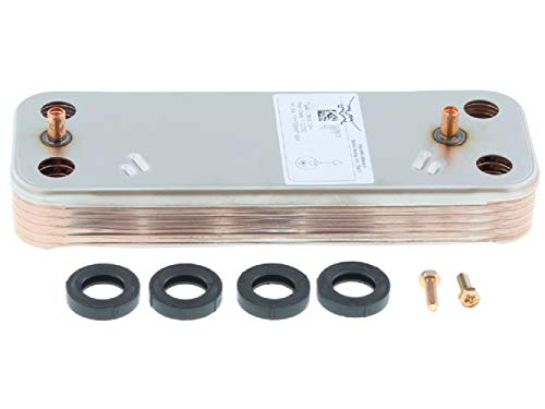Baxi/Potterton/Main 10 Plate DHW Plate to Plate Heat Exchanger & O'Rings 7225724 248046 Genuine Part
