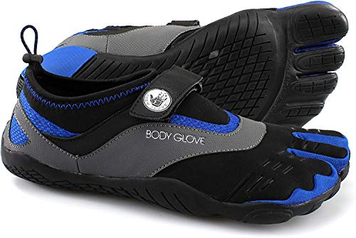 Body Glove Men's 3T Barefoot Max Water Shoe, Black/Dazzling Blue, 9
