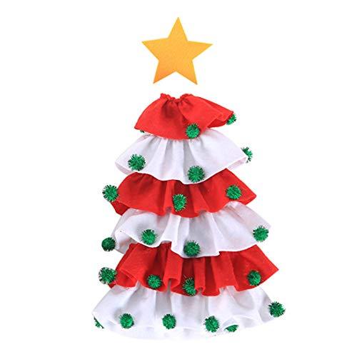 Herewegoo Kerst Decoratie, Kerstmis Wijn Fles Covers Jurk Rok Kerstmis Eettafel Set Fles Decoratie