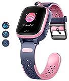 Orologio Intelligente per Bambini 4g con GPS WIFI LBS Tracker Posizione in Tempo Reale Touch Screen HD Videochiamata SOS Messaggio Impermeabile Compatibile con Android e IOS per Ragazzi e Ragazze